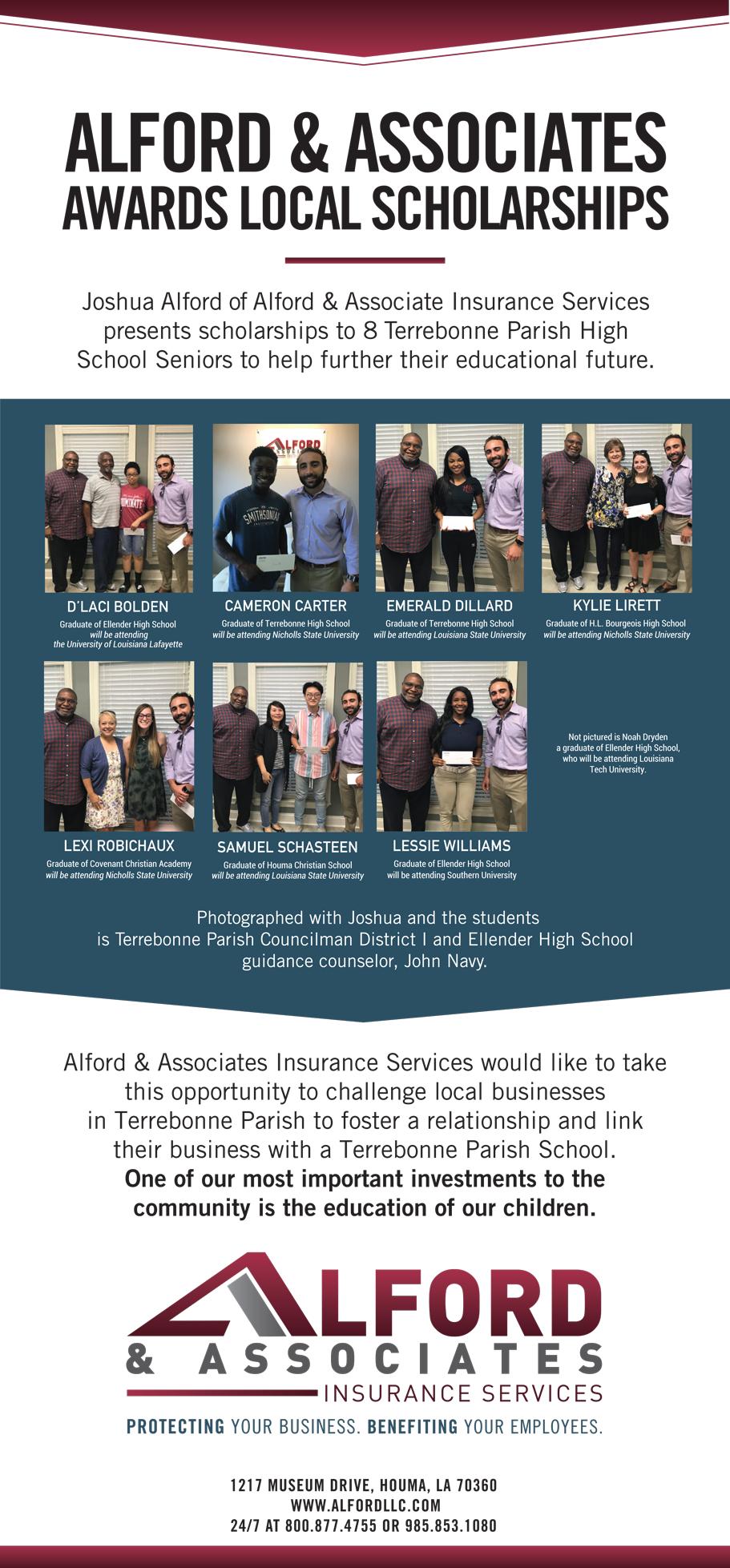 Alford & Associates   Alford & Associates Awards Local